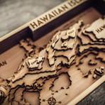 "Hawaiian Islands (8""W x 15""H x 1.5""D)"