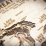"""The Great Lakes (7""""W x 10""""H x 1.5""""D)"""