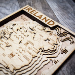 "Ireland (8""W x 10""H x 1.5""D)"