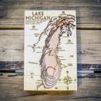 """Lake Michigan (6""""W x 10""""H x 1.5""""D)"""