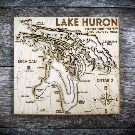 """Lake Huron (7""""W x 8""""H x 1.5""""D)"""