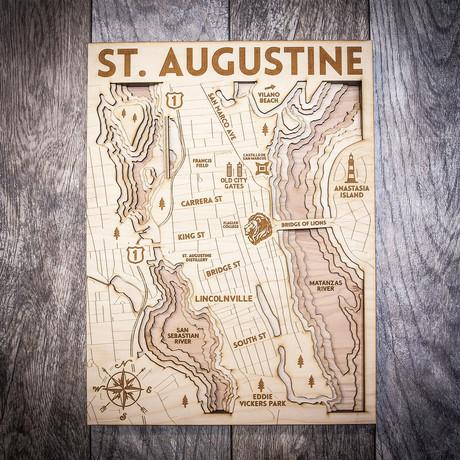 "St Augustine (8""W x 10""H x 1.5""D)"