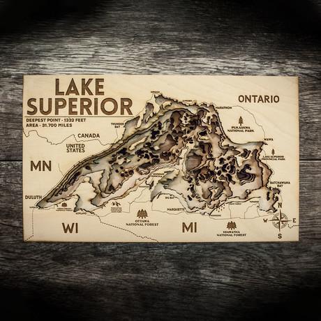 "Lake Superior (7""W x 11""H x 1.5""D)"