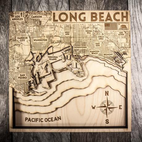 "Long Beach (8""W x 8""H x 1.5""D)"