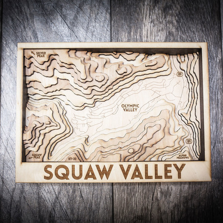 "Squaw Valley (8""W x 13""H x 1.5""D)"