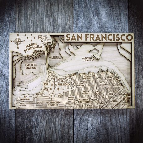 "San Francisco City (6""W x 10""H x 1.5""D)"