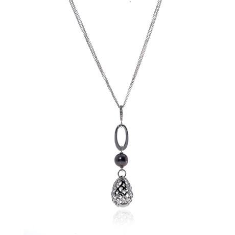Piero Milano 18k White Gold Diamond Necklace II // Store Display