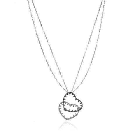 Piero Milano 18k White Gold Diamond Necklace I // Store Display