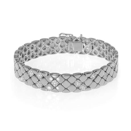 Piero Milano 18k White Gold Diamond Bracelet // Store Display