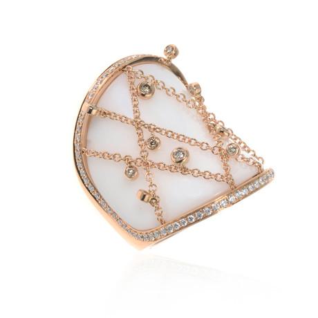 Piero Milano 18k Rose Gold Diamond Ring // Ring Size: 6.25 // Store Display