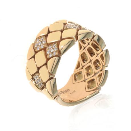 Piero Milano 18k Yellow Gold Diamond Ring I // Ring Size: 9 // Store Display