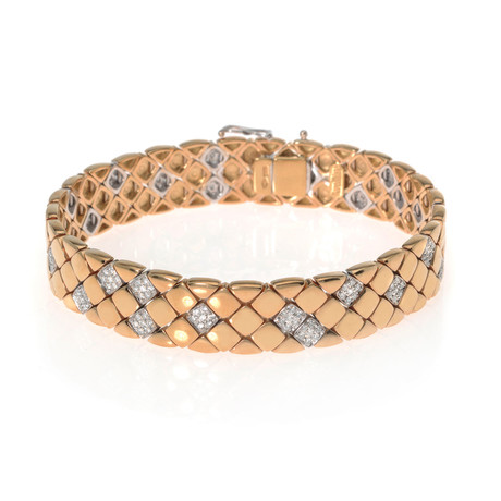 Piero Milano 18k Rose Gold Diamond Bracelet II // Store Display