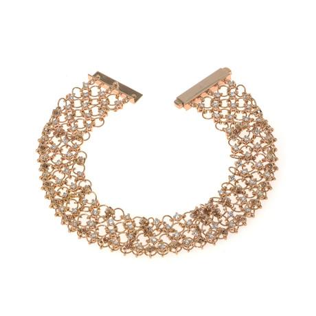 Piero Milano 18k Rose Gold Diamond Bracelet // Store Display