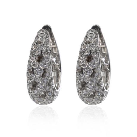 Piero Milano 18k White Gold Diamond Earrings VI // Store Display