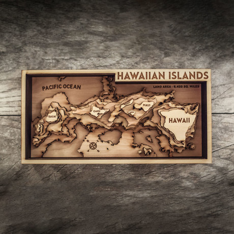 "Hawaiian Islands (8""W x 15""H x 1.5""D)"