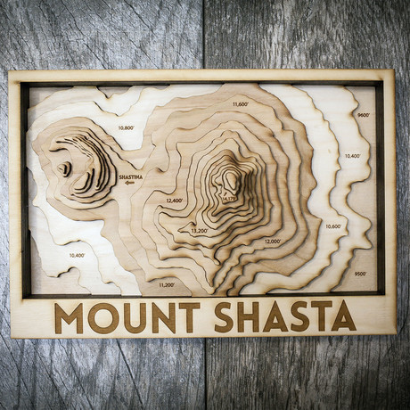"""Mount Shasta (7""""W x 10""""H x 1.5""""D)"""