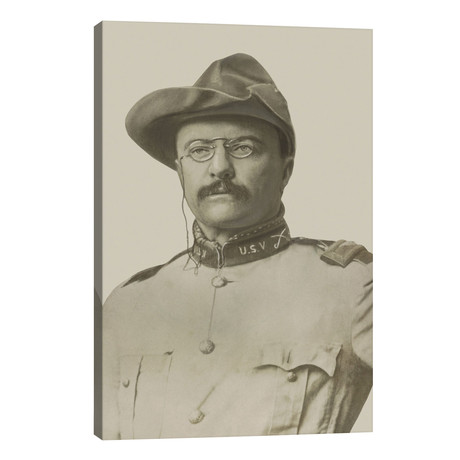 Vintage American History Print Of Colonel Theodore Roosevelt // John Parrot