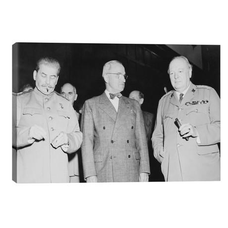 WWII Photo Of Joseph Stalin, Harry Truman, And Winston Churchill // John Parrot