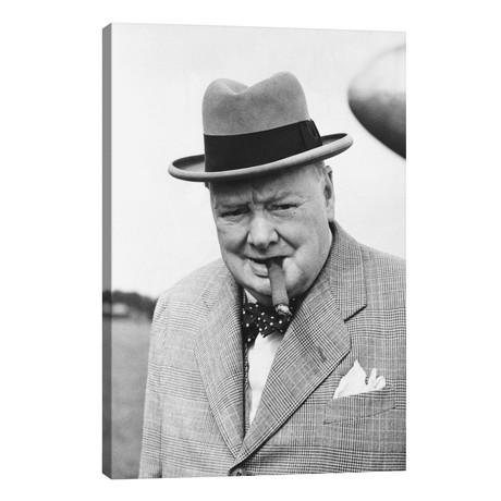Winston Churchill Portrait // Unknown Artist