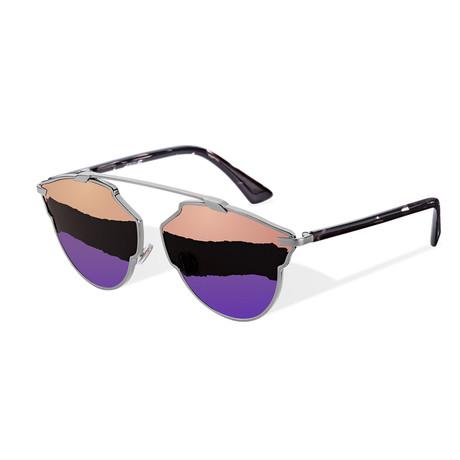 Women's So Real Sunglasses // Silver + Multicolor