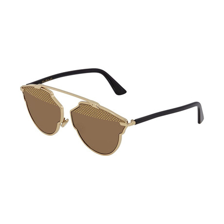 Women's So Real Sunglasses // Black + Gold