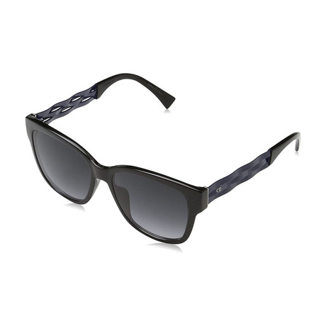 Women's Ribbon Sunglasses // Black + Gray