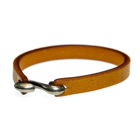 Jean Claude Jewelry // Leather Bracelet // Light Brown