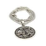 Dell Arte // Lucky Dragon Pendant // Black + Silver