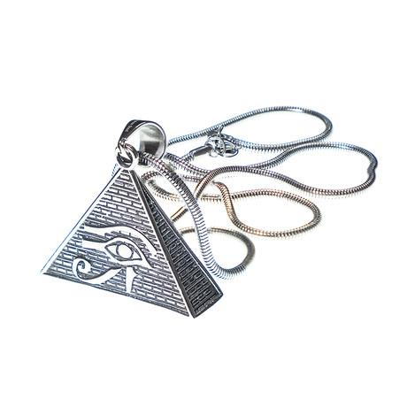 Dell Arte // Eye of Xorus Pendant + Chain // Silver