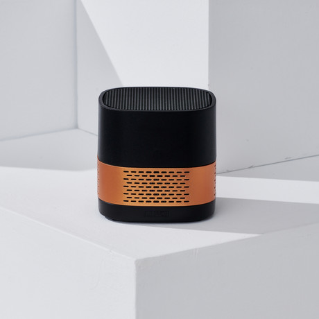 LUFT Cube // Portable + Filterless Air Purifier // Black Gold