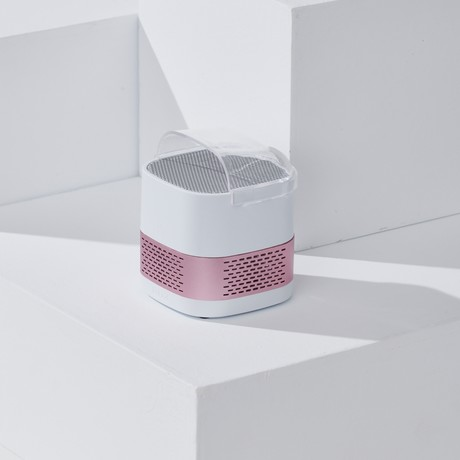LUFT Cube // Portable + Filterless Air Purifier // Pink Rose