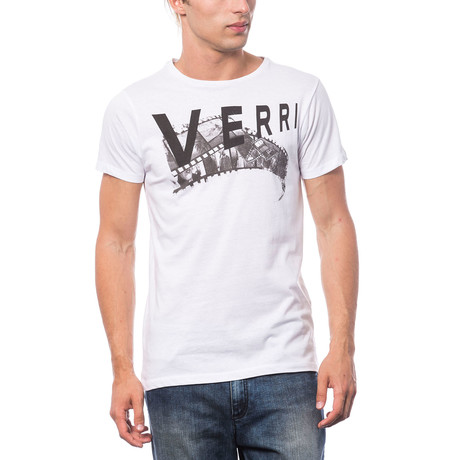 Stampata T-Shirt // White + Black (S)