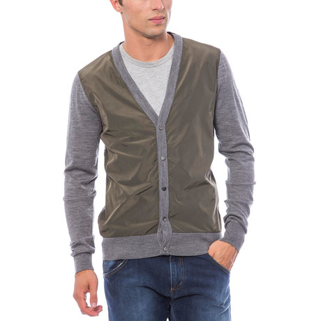Fashion Cardigan // Gray + Green (S)