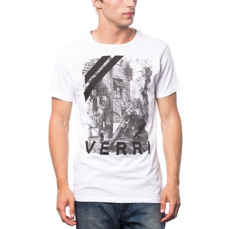 Stampata T-Shirt // White + Gray (S)