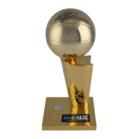 Shaquille O'Neal // Autographed Larry O'Brien Replica Trophy