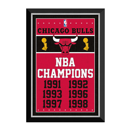 Chicago Bulls // NBA Championships Banner Display