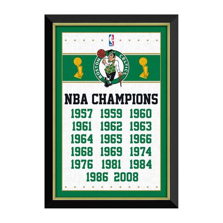 Boston Celtics // NBA Championships Banner Display