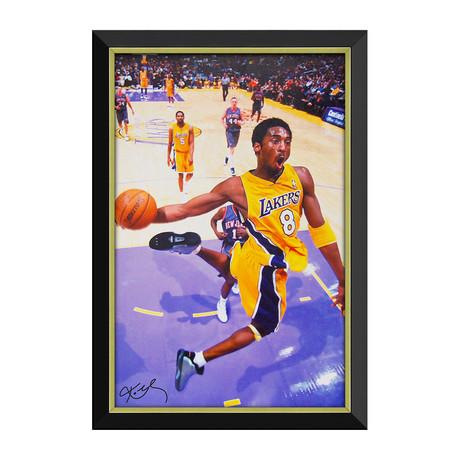 Kobe Bryant // Slam Dunk Framed Canvas // Facsimile Signed