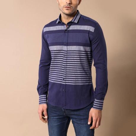 Shane Slim-Fit Shirt // Navy (S)