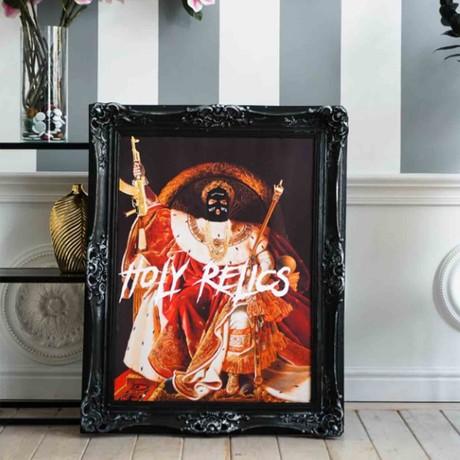 "Holy Relics // Black Frame (30""H x 25""W x 2.3""D)"