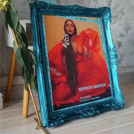 """Beyonce // Blue Frame (30""""H x 25""""W x 2.3""""D)"""