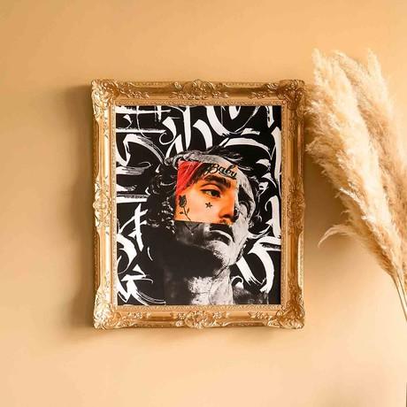 "Lil Peep // // Gold Frame (30""H x 25""W x 2.3""D)"