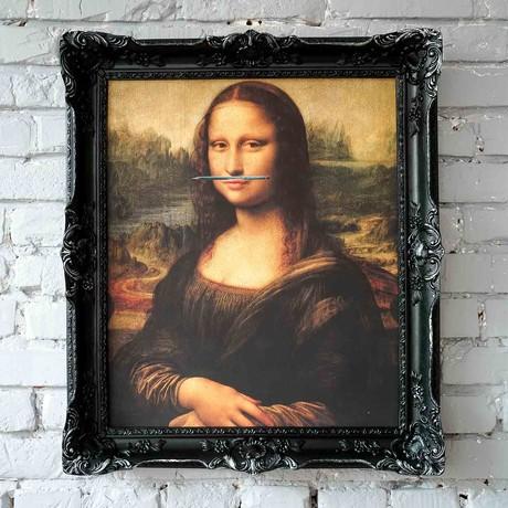 "Mona Lisa // Black Frame (15""H x 13""W x 1.5""D)"