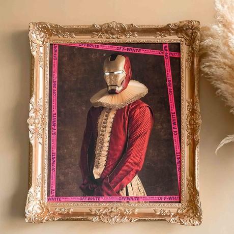 """Ironman // Gold Frame (30""""H x 25""""W x 2.3""""D)"""