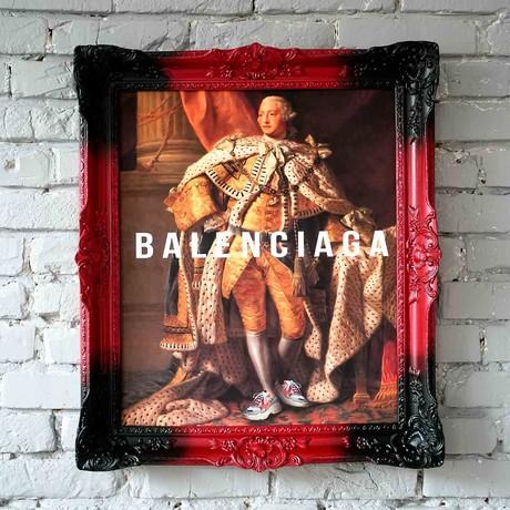"""Balenciaga // Multicolor Frame (15""""H x 13""""W x 1.5""""D)"""