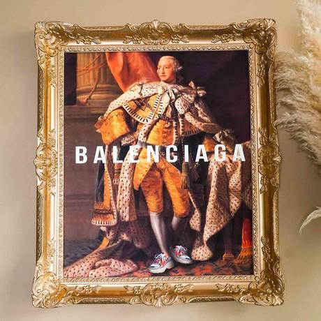 """Balenciaga // Gold Frame (15""""H x 13""""W x 1.5""""D)"""