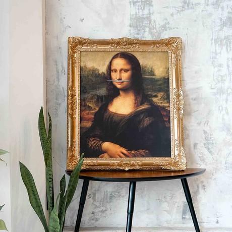 "Mona Lisa // Gold Frame (15""H x 13""W x 1.5""D)"
