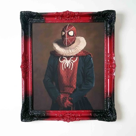"""Spiderman // Red Frame (30""""H x 25""""W x 2.3""""D)"""