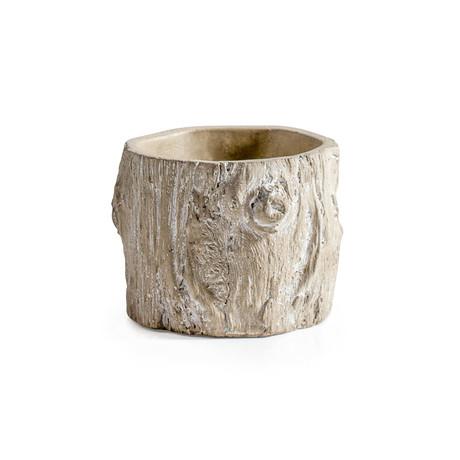 """Alder Bark Drop Pot Planter (4.75""""Ø x 3.5""""H)"""