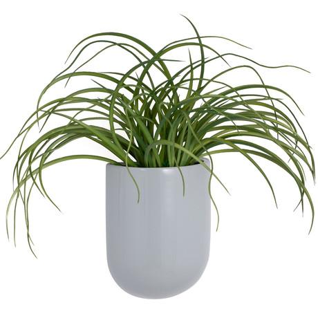 Centra Ceramic Gray Wall Vase Planter (Tall)